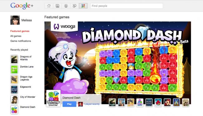 Игра в Google+